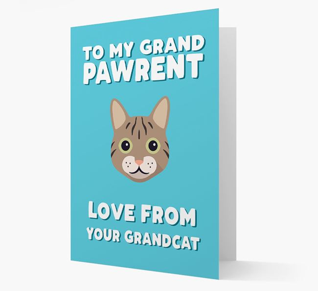 'To My Grandpawrent' - Personalized Cat Card