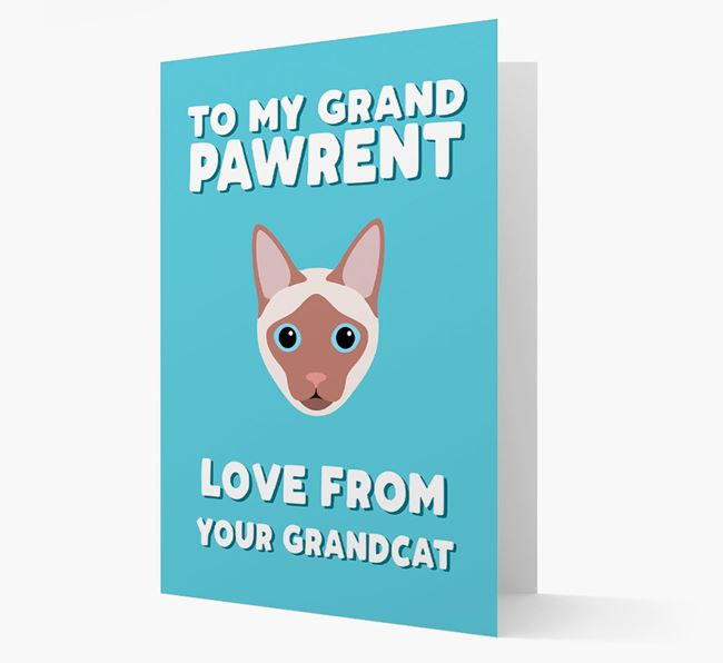 'To My Grandpawrent' - Personalized Siamese Card
