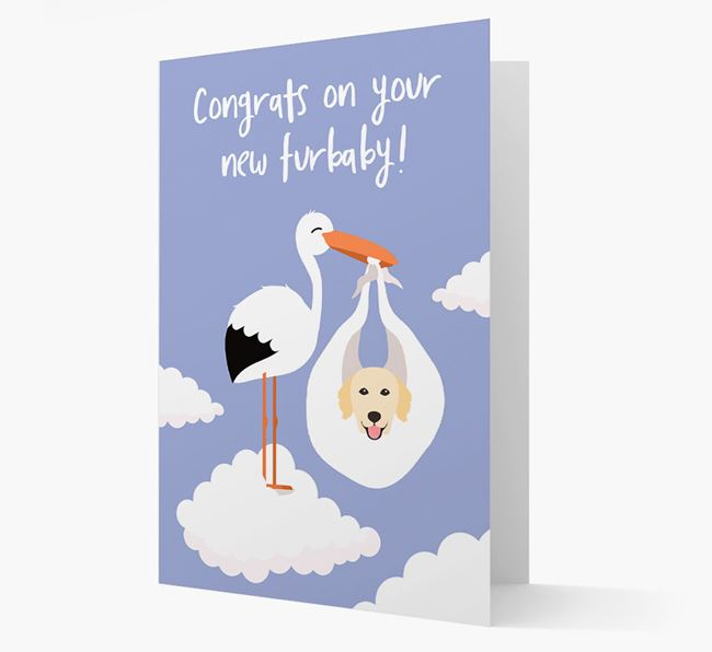 'Congrats On Your New Furbaby!'  - Personalised Golden Retriever Card