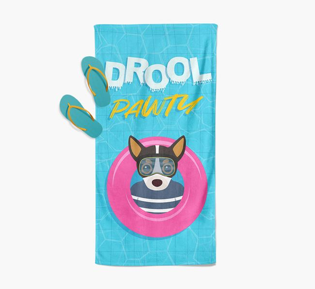 'Drool Pawty' - Personalised Chihuahua Towel