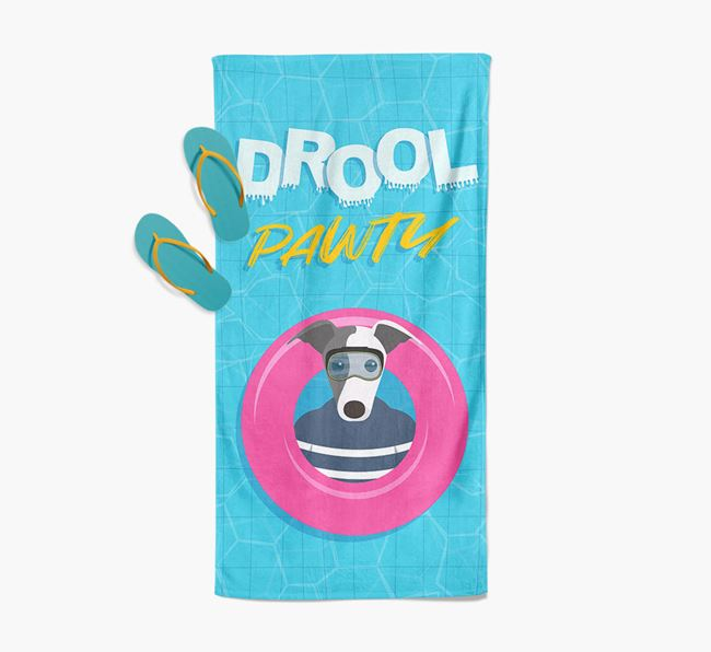 'Drool Pawty' - Personalised Greyhound Towel