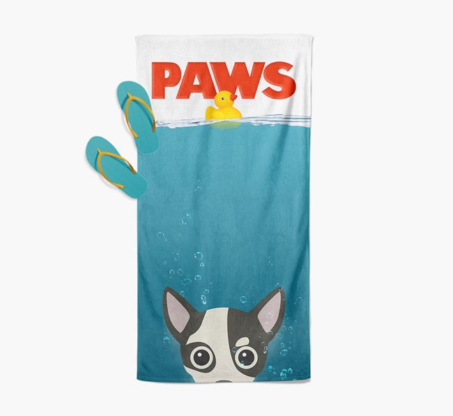 'Paws' - Personalised Chihuahua Towel