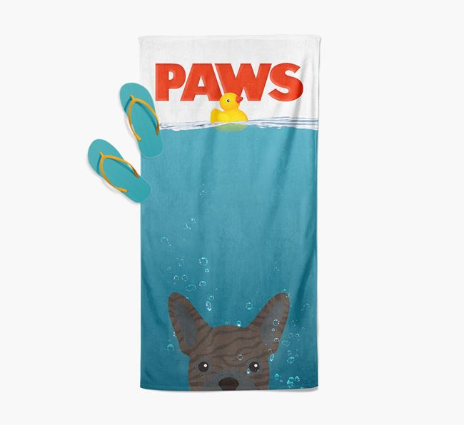 'Paws' - Personalised French Bulldog Towel