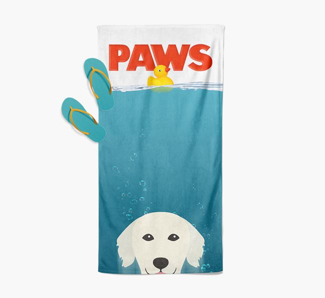 'Paws' - Personalised Golden Retriever Towel