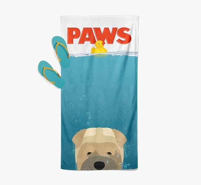 'Paws' - Personalised Dog Towel