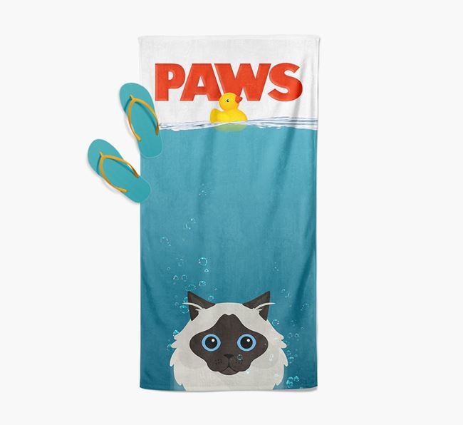 'Paws' - Personalised Cat Towel