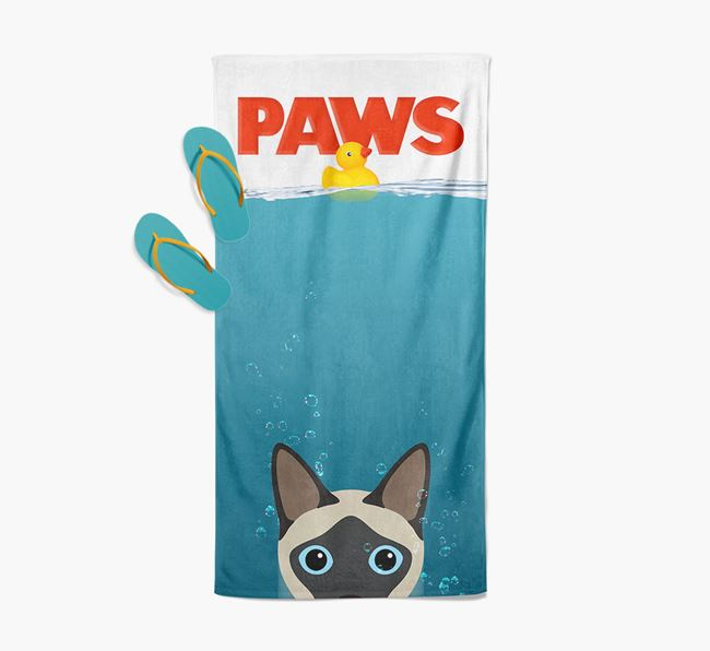 'Paws' - Personalized Siamese Towel