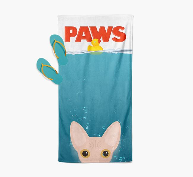 'Paws' - Personalized Cat Towel