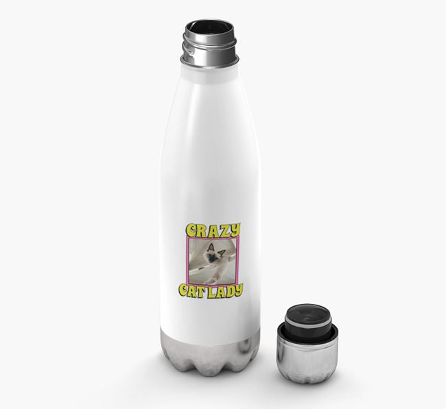 'Crazy Cat Lady' - Personalized Cat Water Bottle