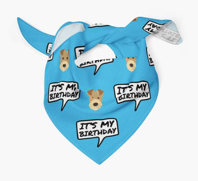 It's My Birthday Airedale Terrier Bandana
