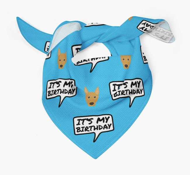 It's My Birthday Basenji Bandana