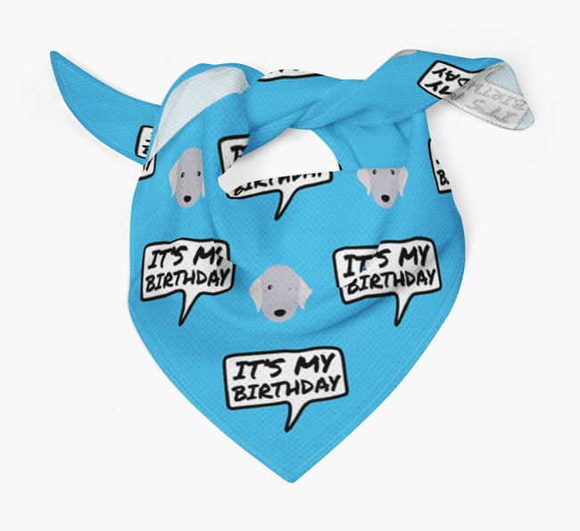 It's My Birthday Bedlington Terrier Bandana