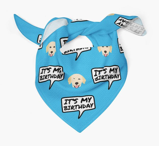It's My Birthday Golden Retriever Bandana
