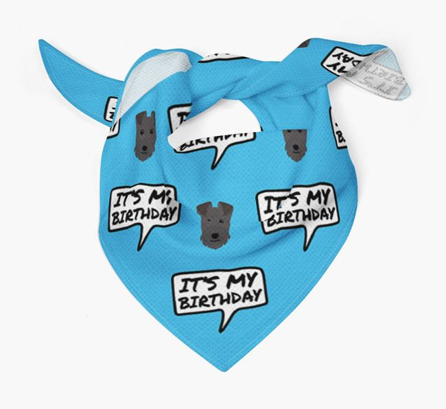 It's My Birthday Lakeland Terrier Bandana