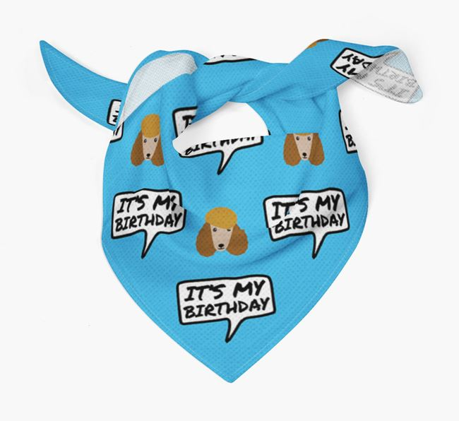 It's My Birthday Poodle Bandana