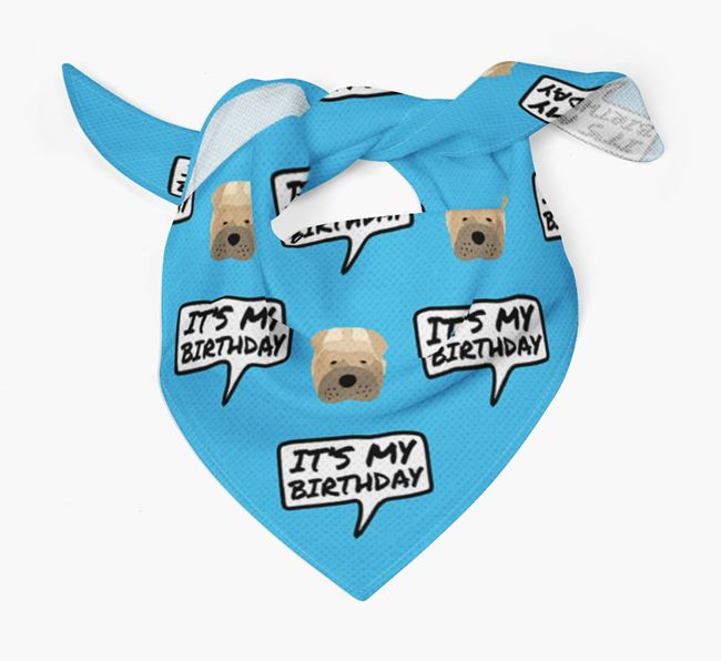It's My Birthday Dog Bandana