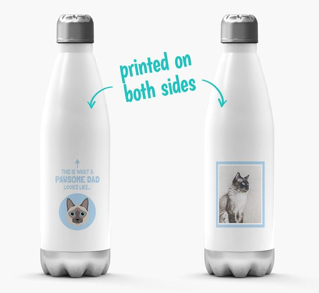 'Pawsome Dad...' - Personalized Balinese Water Bottle