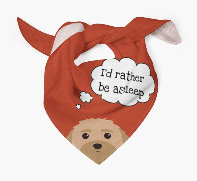 'I'd Rather be Asleep' Dog Bandana