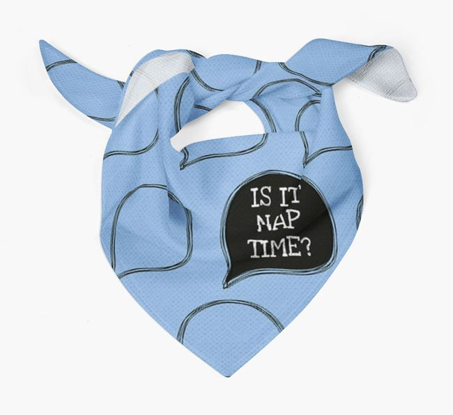 'Is It Nap Time?' Dog Bandana