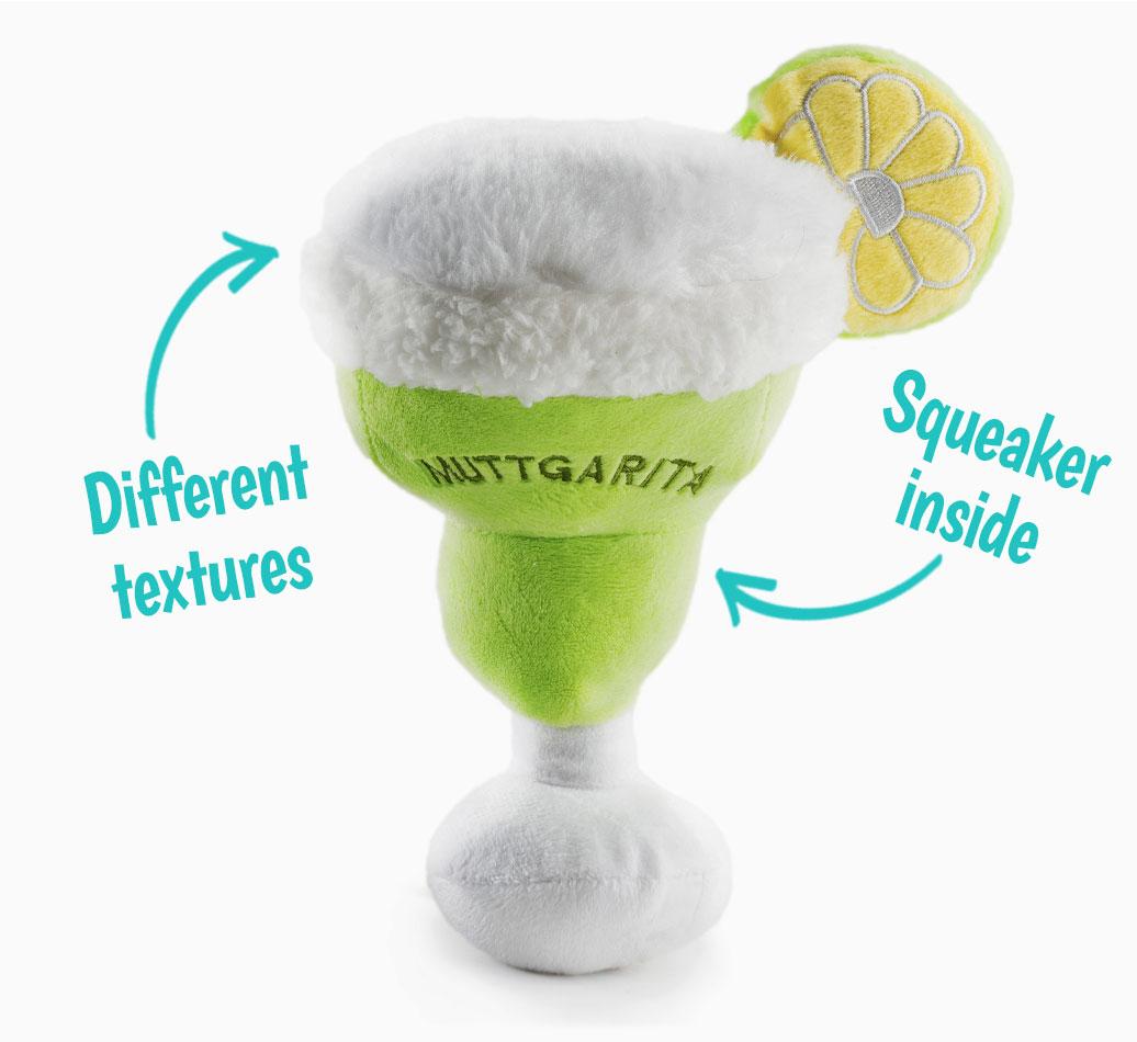 Muttgarita Toy for your Bedlington Terrier 'Squeaker Inside'