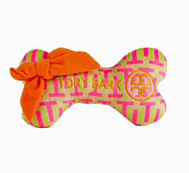 Tory Barks Bone Dog Toy