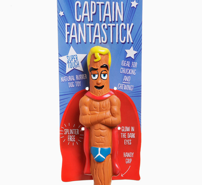 'Captain Fantastick Super Stick' toy for your Black and Tan Coonhound