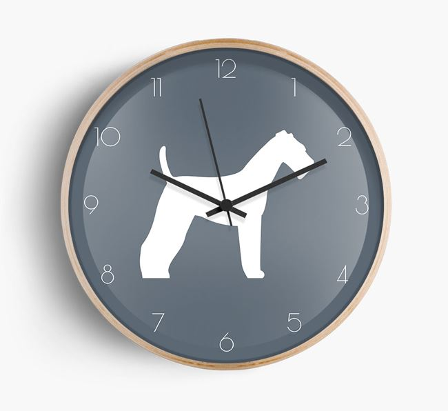 Airedale Silhouette Beech Wall Clock