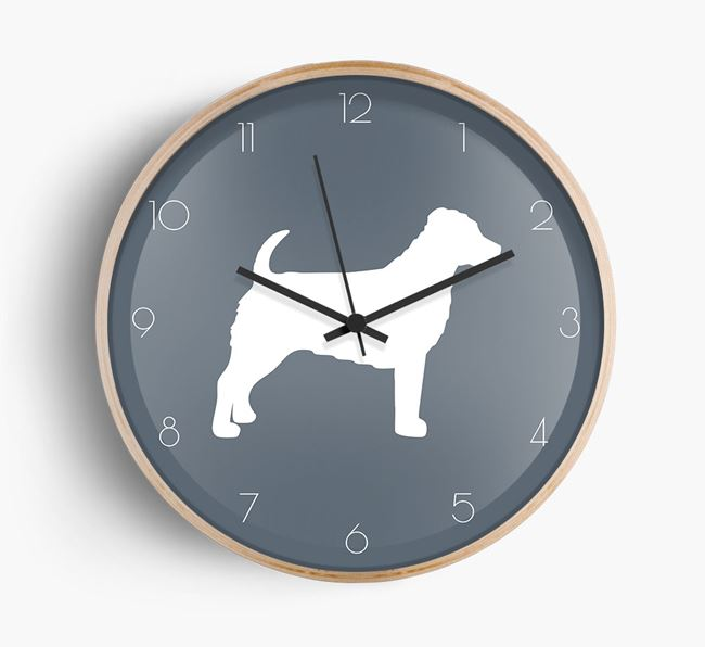Jack-a-Poo Silhouette Beech Wall Clock