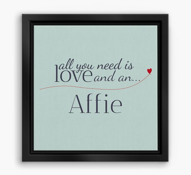 'All You Need is Love...' Affie Boxed Canvas Print
