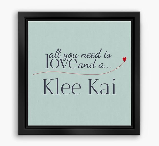 'All You Need is Love...' Alaskan Klee Kai Boxed Canvas Print