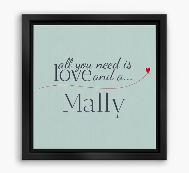 'All You Need is Love...' Malamute Boxed Canvas Print