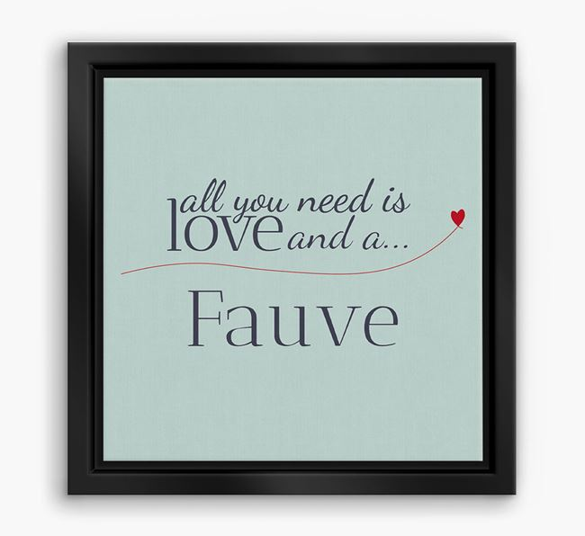 'All You Need is Love...' Basset Fauve Boxed Canvas Print