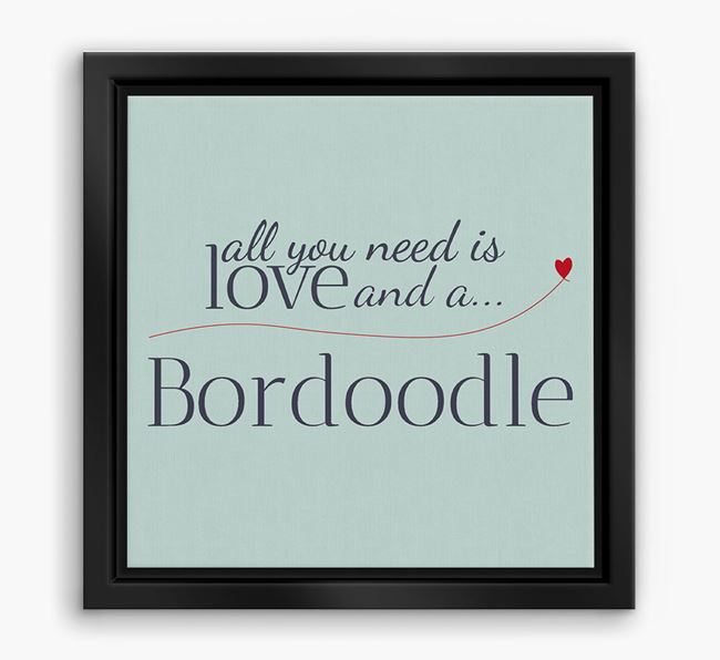 'All You Need is Love...' Bordoodle Boxed Canvas Print