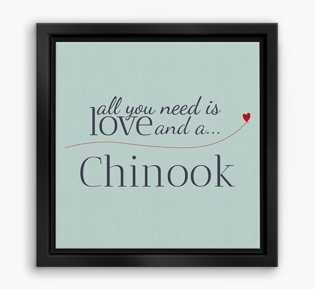 'All You Need is Love...' Chinook Boxed Canvas Print