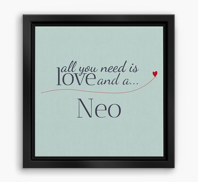 'All You Need is Love...' Neapolitan Mastiff Boxed Canvas Print