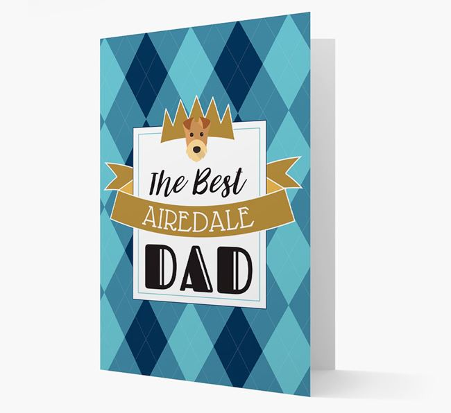 'Best Airedale Dad' Card