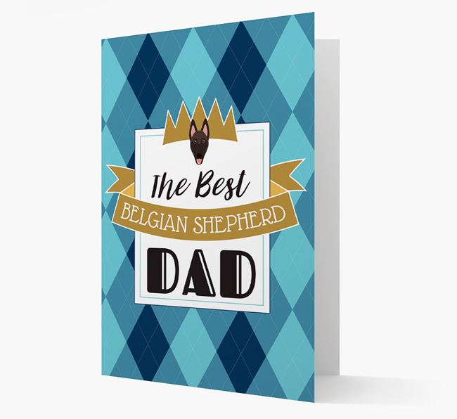 'Best Belgian Shepherd Dad' Card