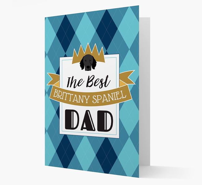 'Best Brittany Spaniel Dad' Card