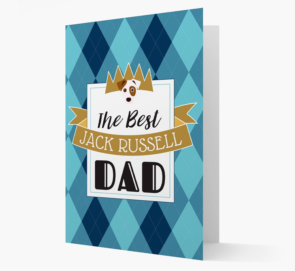 Card 'Best Dog Dad' with Dog Yappicon