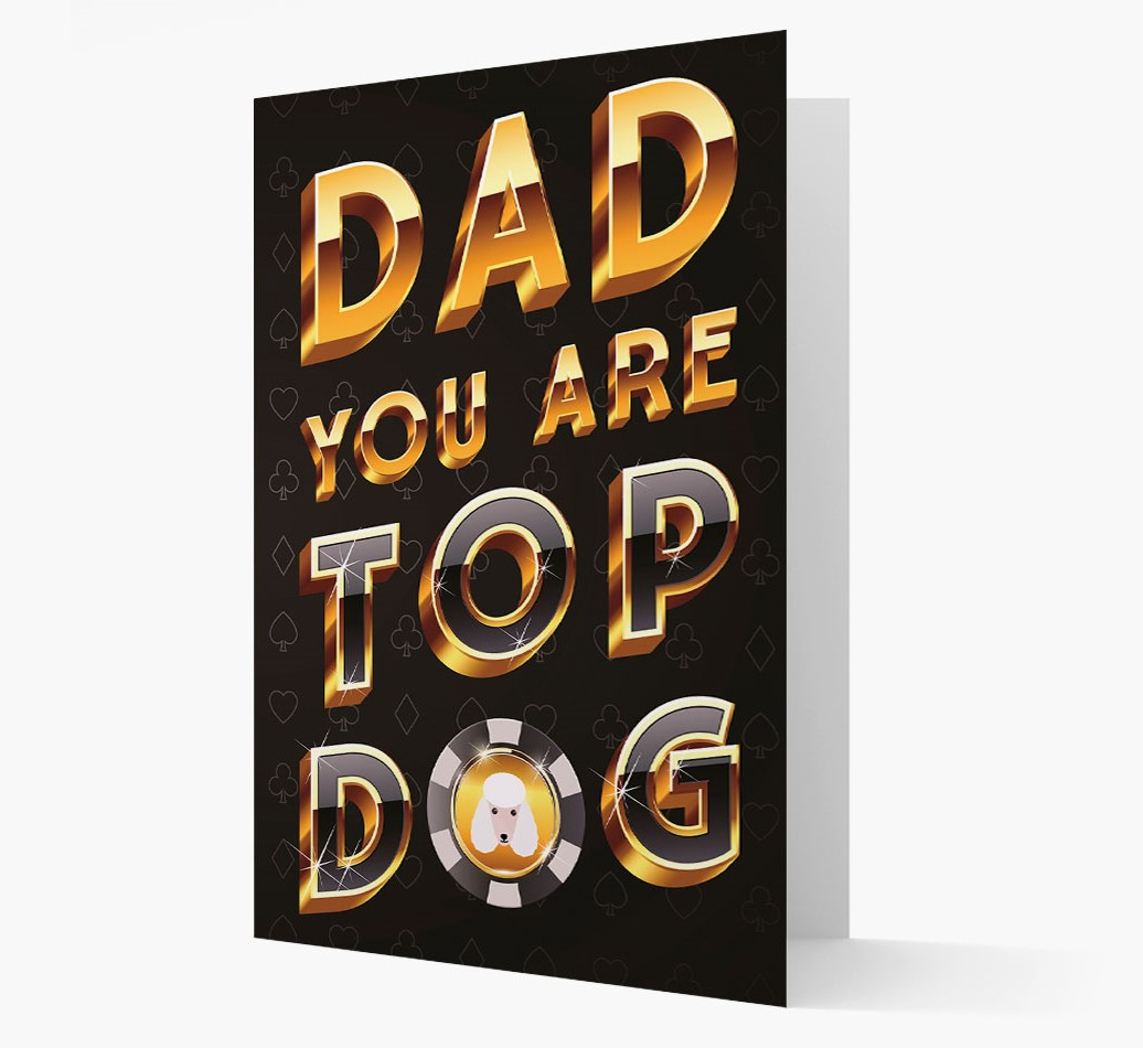 Card 'Dad, you are Top Dog' with Poodle Yappicon