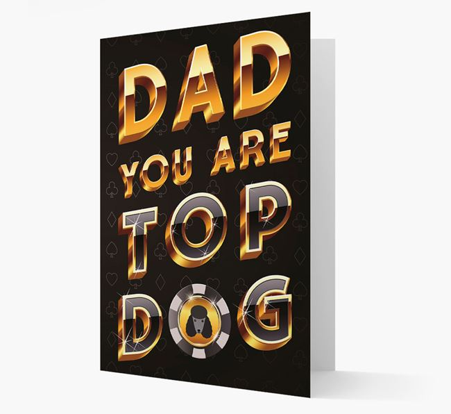 'Dad, you are Top...' Poodle Card