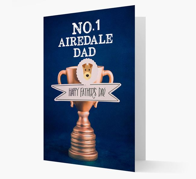 'No.1 Airedale Dad Trophy' Card