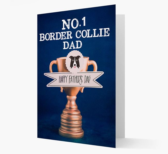 'No.1 Border Collie Dad Trophy' Card