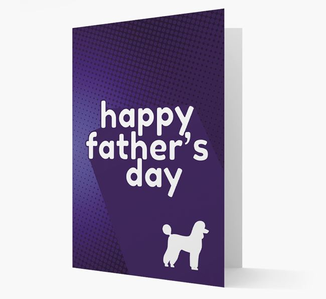 'Happy Father's Day' Poodle Card