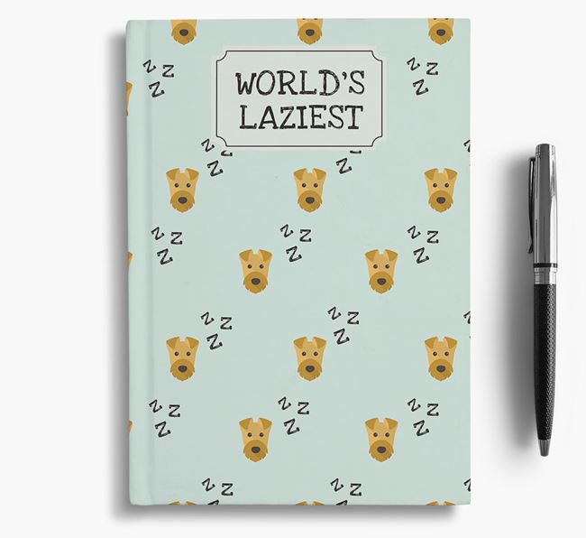 'Worlds Laziest' Airedale Terrier Notebook