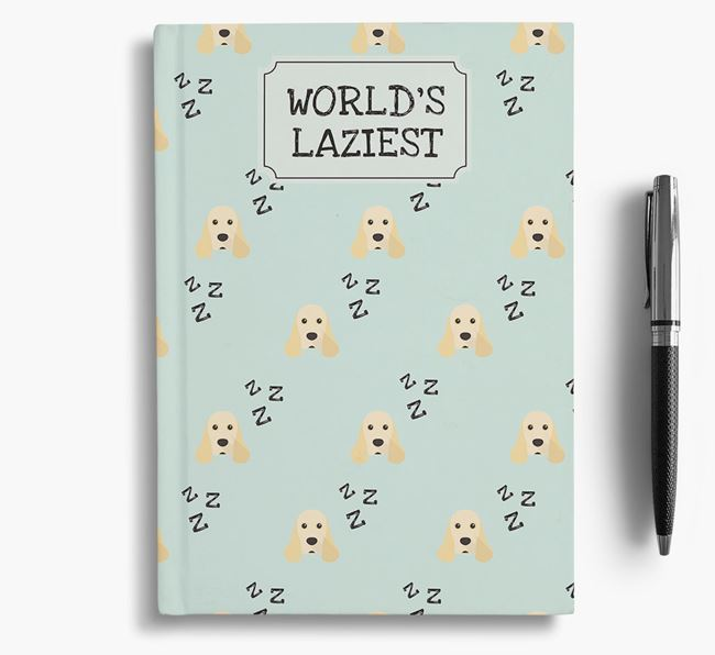 'Worlds Laziest' American Cocker Spaniel Notebook