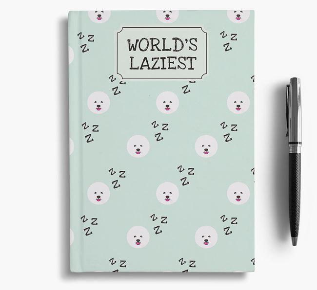 'Worlds Laziest' Bichon Frise Notebook