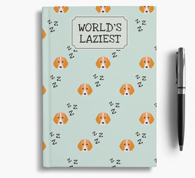'Worlds Laziest' Foxhound Notebook