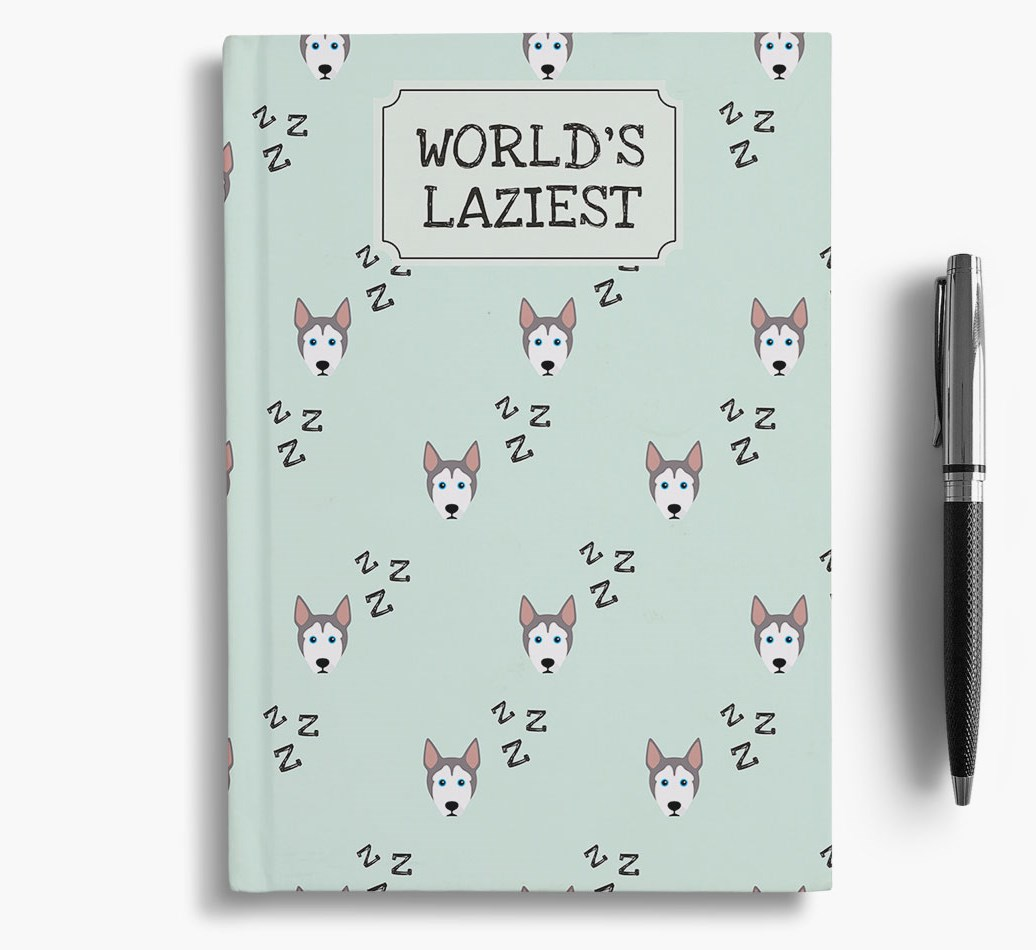 Worlds Laziest Dog {colour} Notebook
