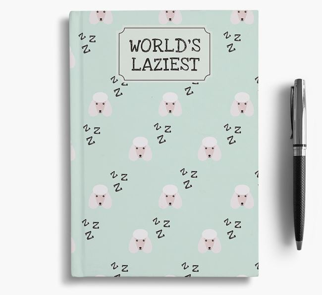 'Worlds Laziest' Poodle Notebook